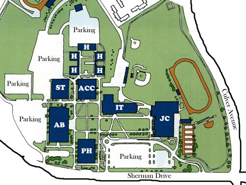 Utica-Campus-Map
